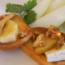 Pear and Brie bruschetta