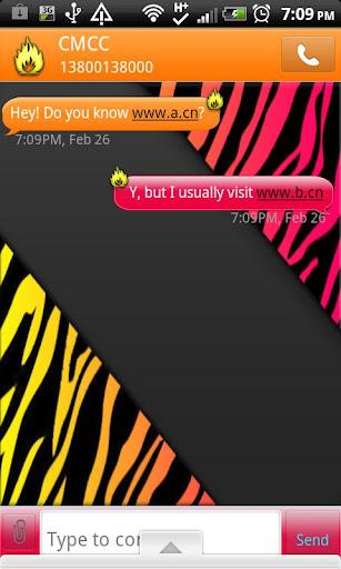 GO SMS THEME FireZebra
