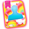 GO CONTACTS - Hearts N Rainbow icon
