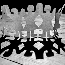Party!!! by Jesus Giraldo - Artistic Objects Other Objects ( concept, paper, art, silhouettes, fun, shadows )