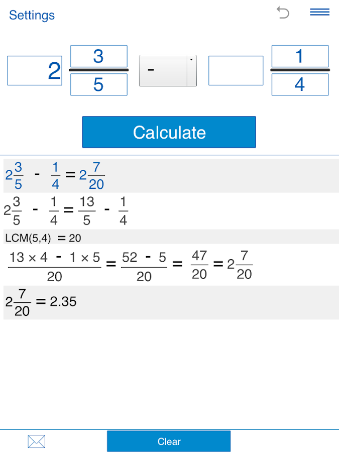 Fraction calculator Screenshot 5