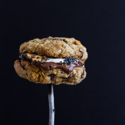 Oatmeal Chocolate Chip + Graham Cracker Cookie S'mores.