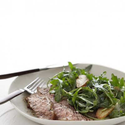 Herbed Steak with Arugula and Potatoes