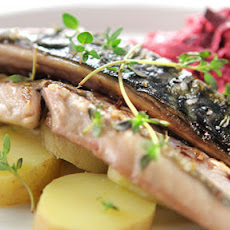 Mackerel With Beet And Apple Slaw