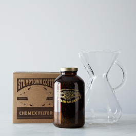 El Salvador Kilimanjaro - Kenya Process Limited Edition Gift Set with Glass Handled Chemex Brewer with 100 Chemex Filters