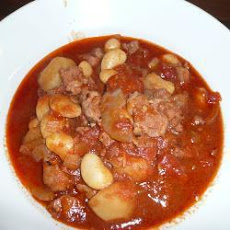 Sam's Portuguese-style pork and chorizo stew