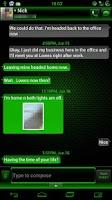 Screenshot of GO SMS Kiwi Cobalt Theme