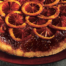 Blood Orange Polenta Upside Down-Cake with Whipped Crème Fraîche