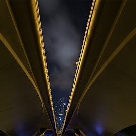by Leofil Durana - Buildings & Architecture Bridges & Suspended Structures ( clouds, urban landscapes, bridges, photography )