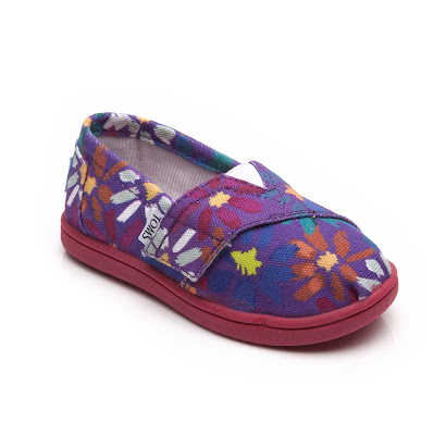 Toms Daisy Canvas Slip On CANVAS