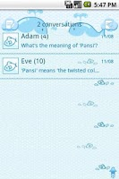 Screenshot of EasySMS Little Fish theme