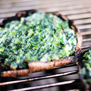 Spinach and Cheese Stuffed Portobellos