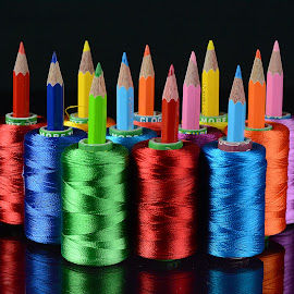 Platoon of colors by Rakesh Syal - Artistic Objects Other Objects