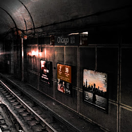 Chicago Subway by Tricia Scott - Transportation Other ( ride, subway, ticket, waiting, chicago )