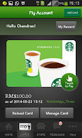 Screenshot of Starbucks Malaysia