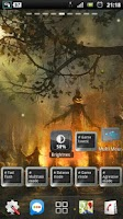 Screenshot of halloween camp fire LWP