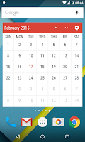 Screenshot of Event Flow Calendar Widget