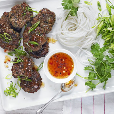 Thai Pork Patties With Sweet Chilli & Noodles