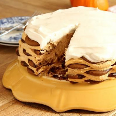 Ginger Snap Pumpkin Icebox Cake