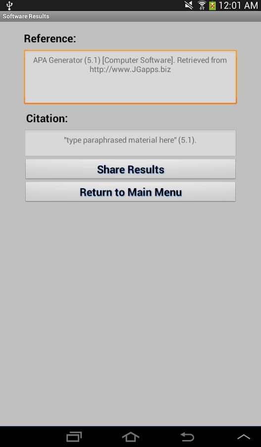 apa format generator for website