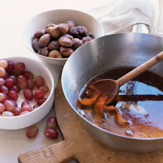Port-Roasted Chestnuts with Grapes