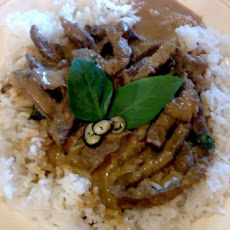 Panang Beef With Fragrant Thai Basil