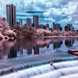 Lago Igapó by Tony Saad - City,  Street & Park  City Parks ( ir, brazil, londrina, infrared, lake, brasil,  )