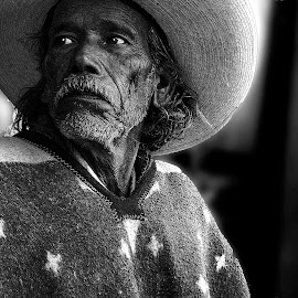 Being aware by Al Tirado - People Portraits of Men ( mexican, bw, man, portrait,  )