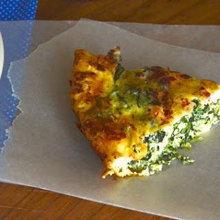 Crustless Spinach and Feta Quiche with Sumac
