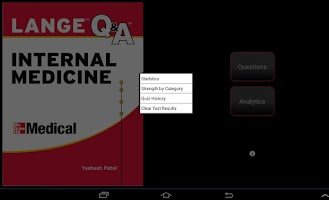 Screenshot of Internal Medicine LANGE Q&A