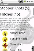 Screenshot of Knots Guide (Trial Period)