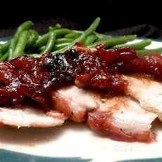 Oven-Barbecued Cranberry Pork Roast