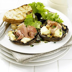 Grilled Mushrooms With Goat's Cheese