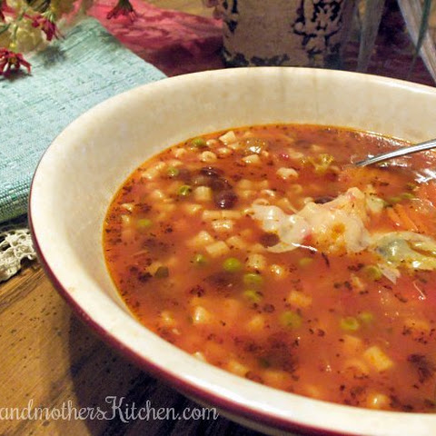 Minestrone Soup for a Winter Day
