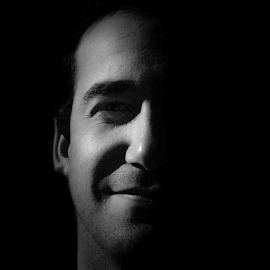 Me by Clifford Wort - People Portraits of Men ( black and white, happy, me, men, smile, man, portrait, Selfie, self shot, self portrait )