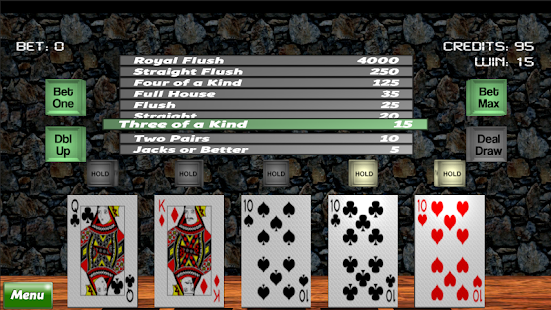 3D Video Poker - screenshot