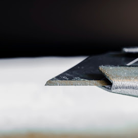 Slice by Chris Haswell - Novices Only Macro ( macro, white, blade, close up, knife )