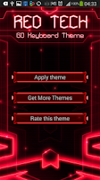 Screenshot of GO Keyboard Red Tech Theme