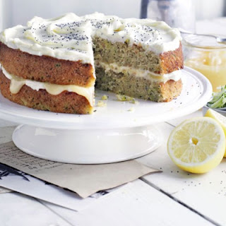 Frosted Courgette & Lemon Cake