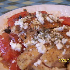 Chicken Breasts With Feta and Tomato