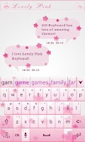 Screenshot of Love Light GO Keyboard Theme