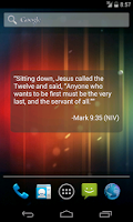 Screenshot of Bible Verse of the Day Widget