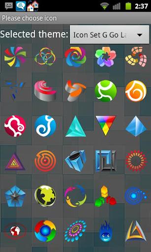 Icon Set G Go Launcher EX
