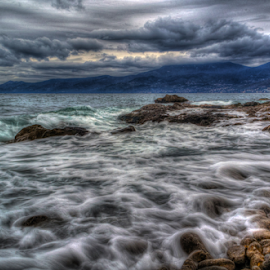 Stormy Waves over The Coast by Siniša Biljan - Landscapes Waterscapes