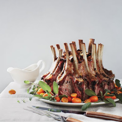 Crown Roast of Pork with Chestnut-Rye Stuffing
