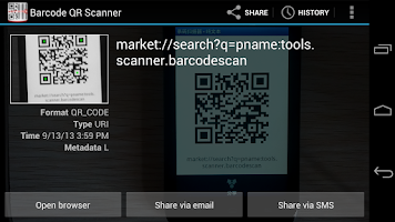 Screenshot of Barcode QR Scanner