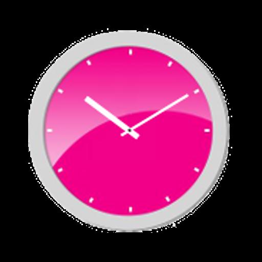 Pink Analog Clock LOGO-APP點子