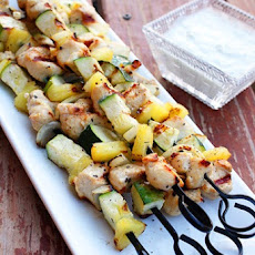Mediterranean Chicken Kebabs with Tzatziki Sauce