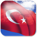 3D Turkey Flag + icon