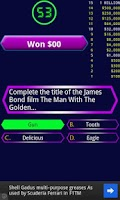 Screenshot of Millionaire quiz game